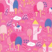 Moda - Once Upon a Time - Stacey Iest Hsu - 6234 - Palace Grounds, Cerise - 20592 15 - Cotton Fabric